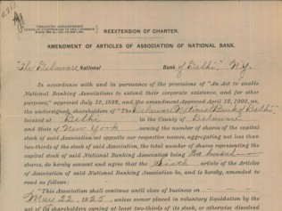 1925 Charter Extension and Share Holder SIgnatures
