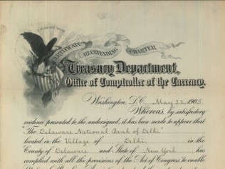 Corporate Existence Extension Document from 1882
