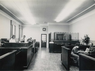 Teller Stations Inside Delaware National Bank 1950