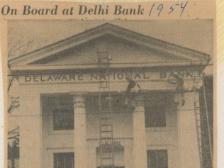 News Article about Bank being Painted - 1954